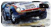 1986 Porsche 959/50 #185 2nd Dakar Rally Raid Ickx, Brasseur IPhone X Tough Case