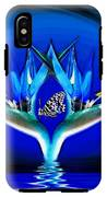 Blue Bird Of Paradise IPhone X Tough Case