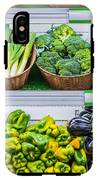 Fruits And Vegetables On A Supermarket Shelf IPhone X Tough Case