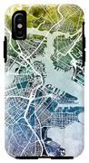 Boston Massachusetts Street Map IPhone X Tough Case