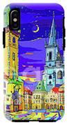 Prague Old Town Square IPhone X Tough Case