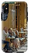 A Man A Woman A French Cafe IPhone X Tough Case