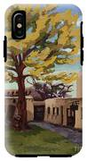 A Tree Grows In The Courtyard, Palace Of The Governors, Santa Fe, Nm IPhone X Tough Case
