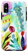 Abstract Cactus And Flowers IPhone X Tough Case