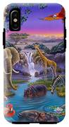 African Animals At The Water Hole IPhone X Tough Case