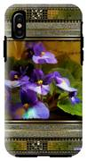 African Violet IPhone X Tough Case
