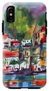 Amalfi Coast Italy Expressive Watercolor IPhone X Tough Case