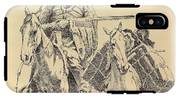 An Old Time Mountain Man With His Ponies IPhone X Tough Case