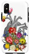 Anatomical Heart With Colorful Flowers IPhone X Tough Case