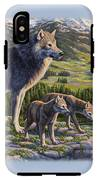 Wolf Painting - Passing It On IPhone X Tough Case