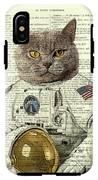 Astronaut Cat Illustration IPhone X Tough Case