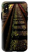 At The End Of A Railroad Track IPhone X Tough Case