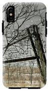 At The End...fence Post IPhone X Tough Case