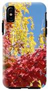 Autumn Trees Red Yellow Fall Tree Blue Sky Landsape IPhone X Tough Case