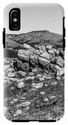 Bald Mountain Rock Formation In Black And White IPhone X Tough Case