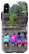 Bali Temple Women Bowing IPhone X Tough Case