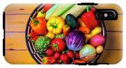 Basketful Of Fresh Vegetables IPhone X Tough Case