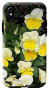 Beautiful Yellow Pansies IPhone X Tough Case