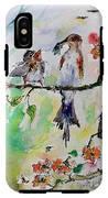 Bird Feeding Baby Watercolor IPhone X Tough Case