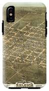 Bird's Eye View Of The City Of Raleigh, North Carolina 1872 IPhone X Tough Case