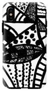 Black And White 16 IPhone X Tough Case