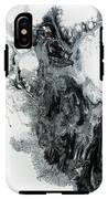 Black And White Abstract Painting  IPhone X Tough Case