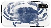 Blue Crab- Art By Linda Woods IPhone X Tough Case