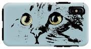 Blue Kitten Portrait IPhone X Tough Case