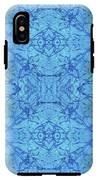 Blue Water Batik Tiled IPhone X Tough Case