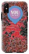 Boston Massachusetts 1948 Red Old Map You Are Here IPhone X Tough Case