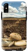 Bread And Wheat Ears. Plowed Land IPhone X Tough Case