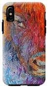Buffalo Bison Wild Life Oil Painting Print IPhone X Tough Case