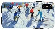 Busy Ski Slope IPhone X Tough Case