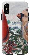 Cardinal Berries IPhone X Tough Case