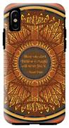 Celtic Dragonfly Mandala In Orange And Brown IPhone X Tough Case