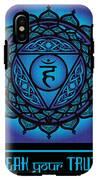Celtic Tribal Throat Chakra IPhone X Tough Case
