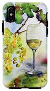 Chardonnay Wine Glass And Grapes IPhone X Tough Case