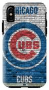 Chicago Cubs Brick Wall IPhone X Tough Case