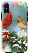 Christmas Birds And Garland IPhone X Tough Case