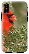 Christmas Cardinal  IPhone X Tough Case