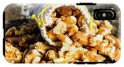 Closeup Of Walnuts Spilling From Small Bag IPhone X Tough Case