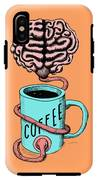 Coffee For The Brain Funny Illustration IPhone X Tough Case