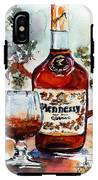 Cognac Hennessy Bottle And Glass Still Life IPhone X Tough Case