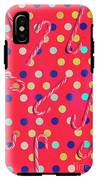Colorful Pepermint Candy Canes IPhone X Tough Case