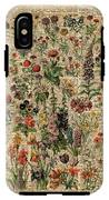 Colourful Meadow Flowers Over Vintage Dictionary Book Page  IPhone X Tough Case