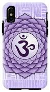Crown Chakra - Awareness IPhone X Tough Case