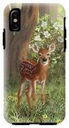 Cute Whitetail Fawn IPhone X Tough Case