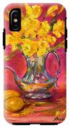 Daffodils And Teapot IPhone X Tough Case