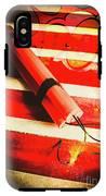 Danger Bomb Background IPhone X Tough Case