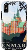 Denmark, Rosenborg Castle, Vintage Travel Poster IPhone X Tough Case